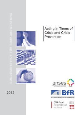 Acting in Times of Crisis and Crisis Prevention