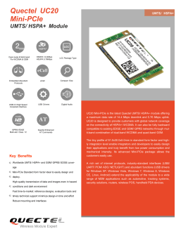Quectel UC20 Mini-PCIe