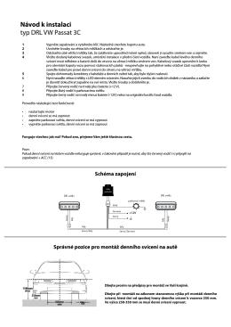 Návod k instalaci typ DRL VW Passat 3C - AUTOALARMY