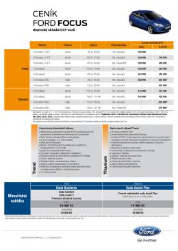 Ceník skladových vozů