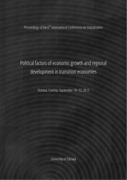 Political factors of economic growth and regional development in