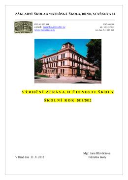 (Výroční zpráva_ZŠ_2011-12) - Základní škola, Brno, Staňkova 14