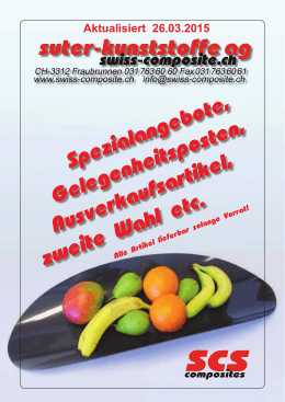 Spezialangebote - Suter Swiss