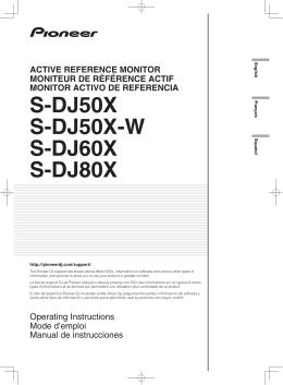 S-DJ50X S-DJ50X-W S-DJ60X S-DJ80X