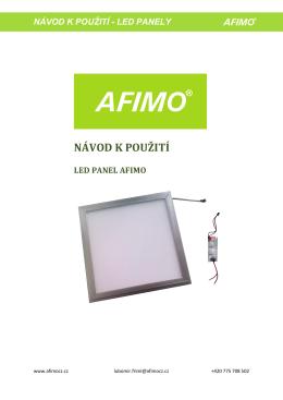 Návod k použití LED panelu AFIMO