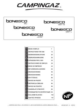 Campingaz Bonesco - návod