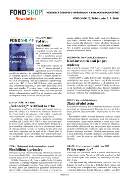 Newsletter FOND SHOP 13-2014