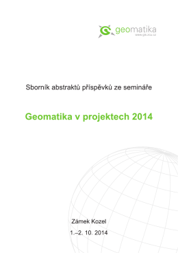 sborník abstraktů s ISBN - Geomatika na ZČU v Plzni