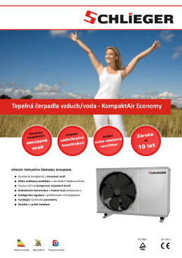Tepelná čerpadla vzduch/voda - KompaktAir Economy
