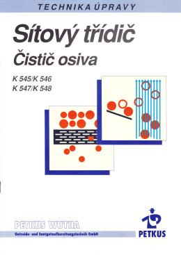 Sítový třídič K 545, K 547