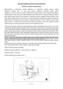 Pluh jednoradličný obrácecí nesený PoN-25-A