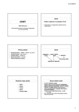 Zánět - Ústav lékařské biochemie a laboratorní diagnostiky