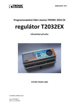 regulátor T2032EX - Tronic Control sro