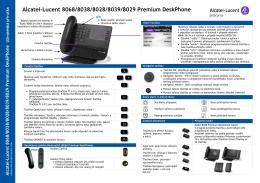 Alcatel-Lucent 8068/8038/8028/8039/8029 Premium DeskPhone