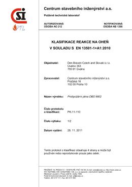 Protokol o klasifikaci č.PK-11-110