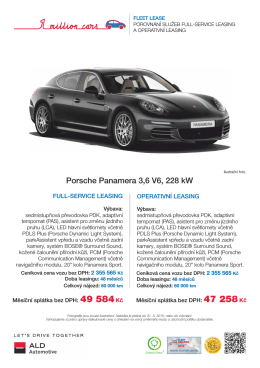 Porsche Panamera - ALD Automotive Operational Leasing Solutions