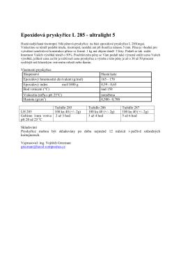 Epoxidová pryskyřice L 285 - ultralight 5