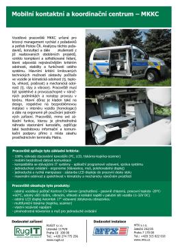 Mobilní kontaktní a koordinační centrum – MKKC
