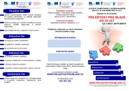 Informační leták v PDF formátu - Příležitost pro mladé do 30 let