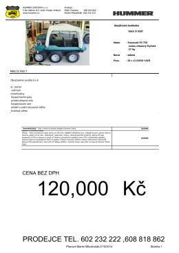 Cenová nabídka - HUMMER Centrum