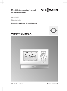 Uživatelský návod Vitotrol 300A