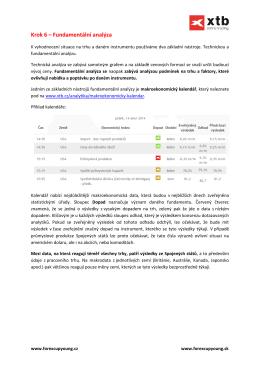 Krok 6 – Fundamentální analýza