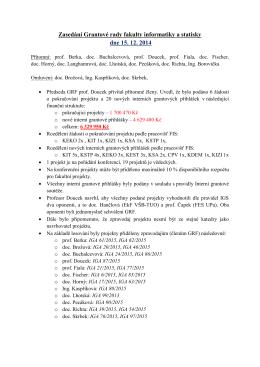 Zápis ze dne 15.12.2014 - Fakulta informatiky a statistiky