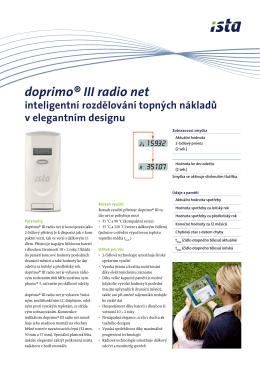 Doprimo® III radio net - inteligentní rozdělování topných nákladů