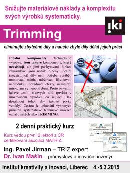 Trimming 4.-5.3.2015, Liberec - IKI