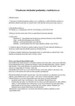 Všeobecné obchodní podmínky vsadchytre.cz