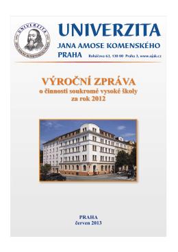 Výroční zpráva 2012 - Univerzita Jana Amose Komenského Praha