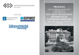 xvii. sjezd společnosti rehabilitační a fyzikální medicíny program