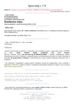 Spravodaj c 174 Svedectvo času - szcpv