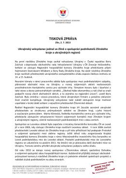 Tisková zpráva - Kontaktní centrum pro východní trhy