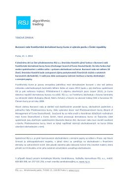 Burzovní rada frankfurtské derivátové burzy Eurex si
