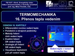 Přenos tepla vedením - Odbor termomechaniky a techniky prostředí