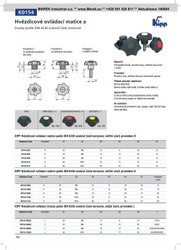 K0154 Hvězdicové ovládací matice a