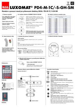 B.E.G. LUXOMAT® PD4-M-1C/-S-GH-SM