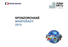 ČT Sponzoring minipořady 2015