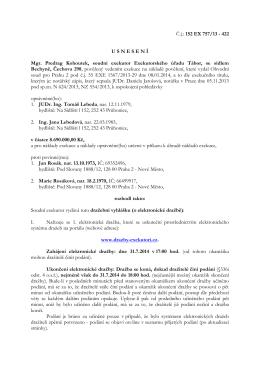 152 EX 757/13 - 422 USNESEN Í Mgr. Predrag Kohoutek, soudní