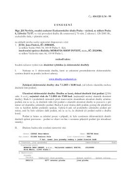 Č.j.: 054 ED 5/14 - 99 U S N E S E N Í Mgr. Jiří Nevřela
