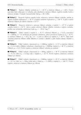 6TT Termomechanika Cvicenı 7: Vlhký vzduch Pr´ıklad 1 Teplota
