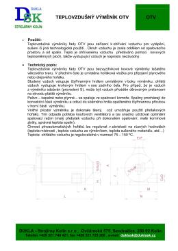 PDF-105 kB - DUKLA - Strojírny Kolín sro