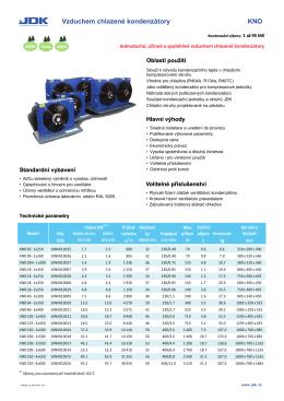 Vzduchem chlazené kondenzátory KNO