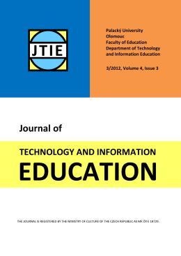 Článek - JTIE - Univerzita Palackého v Olomouci