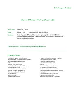 Outlook - DIGI Akademie