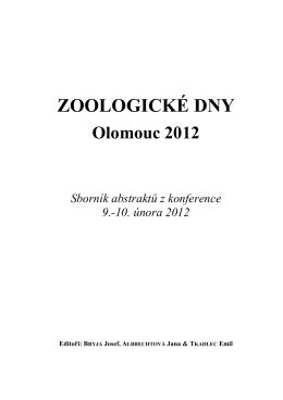 Sborník 2012 A5_FINALpagFINAL - Zoologické dny