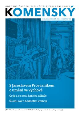 S Jaroslavem Provazníkem o umění ve výchově