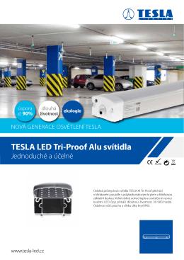 Datasheet TESLA LED Tri-Proof – ALU svítidla