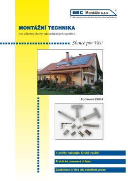 Katalog montážní techniky 4/2014